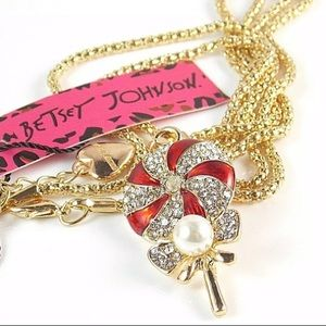 Betsey Johnson lollipop pendant necklace ➰🆕➰